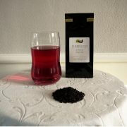 aronia the i glas med vareprøve