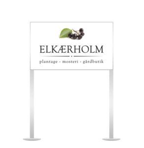 Elkærholm skilt.